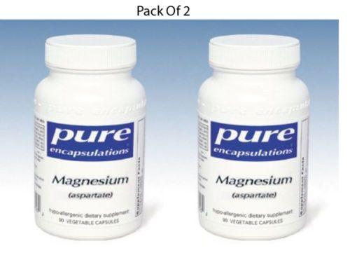 Pure-Encapsulations-Magnesium-aspartate-75-mg-90-VegCaps-2-PACK-Exp-2-18-SD