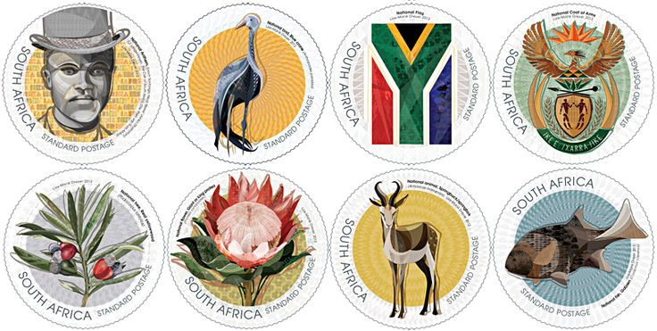 National Symbols RSA Republic Of South Africa Stamps 2014