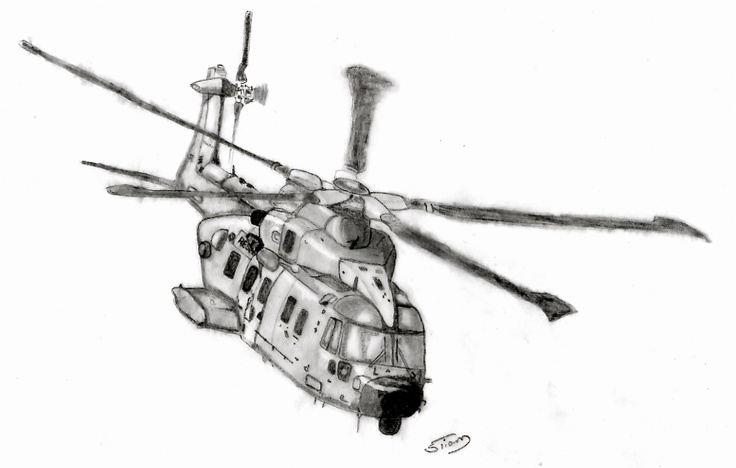 Helicopter EH101 Pencil.