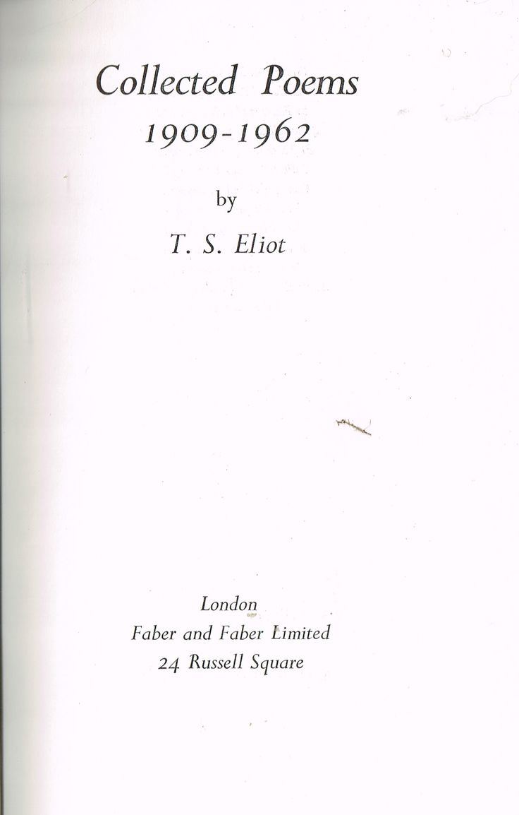 Collected Poems 1909 - 1962 (1963) by T. S. Eliot. Eliot sometimes gets carried away by ideas instead of words, but is a great poet. I found myself looking forward to reading him every night. Finished 19th Mar 2016, bedtime reading, first read of entire book.