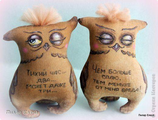 Куклы Шитьё Ароматные совушки и котята Ткань фото 2