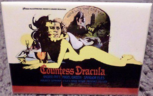 Countess Dracula Movie Poster 2 x 3 Refrigerator Locker MAGNET @ niftywarehouse.com #NiftyWarehouse #Dracula #Vampires #ClassicHorrorMovies #Horror #Movies #Halloween #Vampire