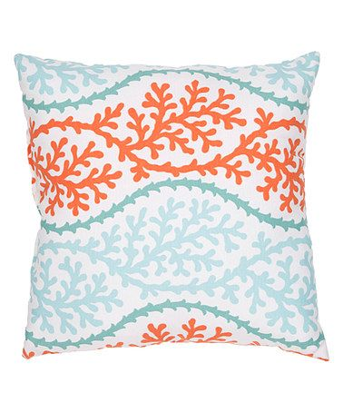 Decorative Pillows Orange And Blue : Jaipur Rugs Blue & Orange Geometric Throw Pillow Throw pillows, Blue orange and Pillows