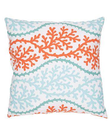 Decorative Pillows Orange And Blue : Jaipur Rugs Blue & Orange Geometric Throw Pillow Throw pillows, Blue orange and Pillows