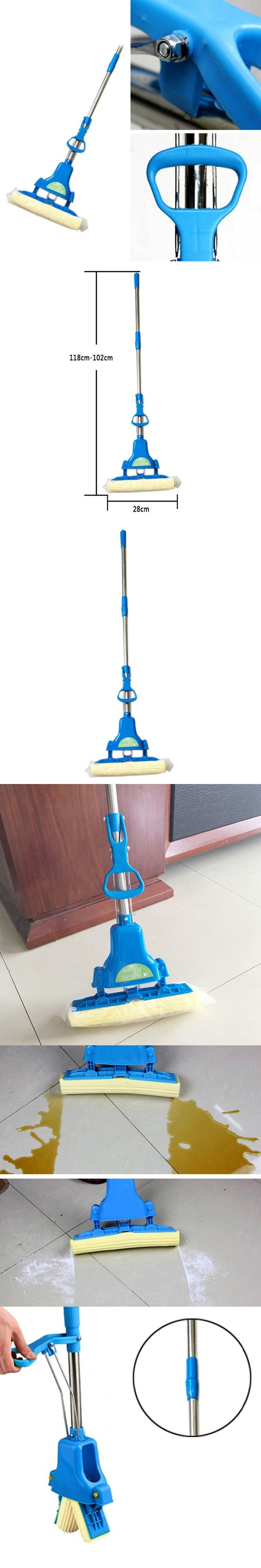 Cleaning Brush Sponge Mops Floor Cleaning Mop Folding Absorbing Squeeze Water Magic Mop Household Cleaning Tools Brush