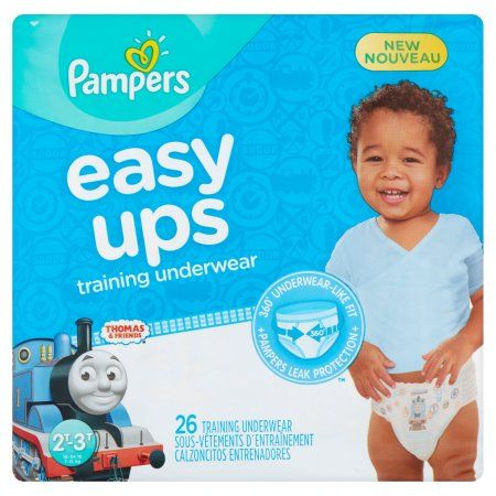 Pampers Easy Ups Boys Training Pants, Size 2T-3T, 26 Pants