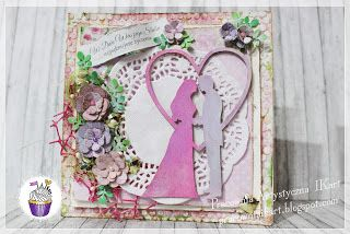 Pracownia artystyczna IKart: Liliowa miłość - kartka ślubna