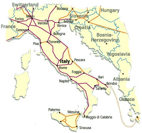 map of train routes in italy | Index, train search, pointsmap of plus maps italian image hairstyles ...