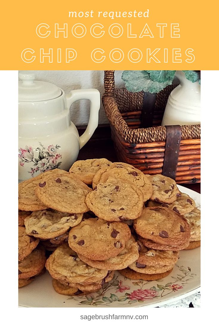 Who doesn't love a soft, chewy, delicious Chocolate Chip Cookie?  This is our most requested recipe!  via @sagebrushfarmnv