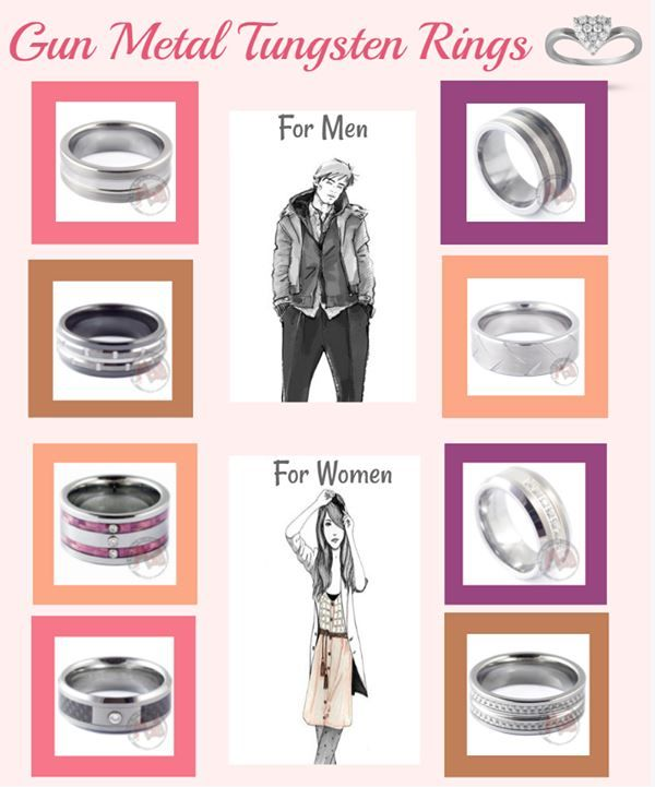 Gun metal tungsten ring collection brings you verity of stylish ring for both men and women