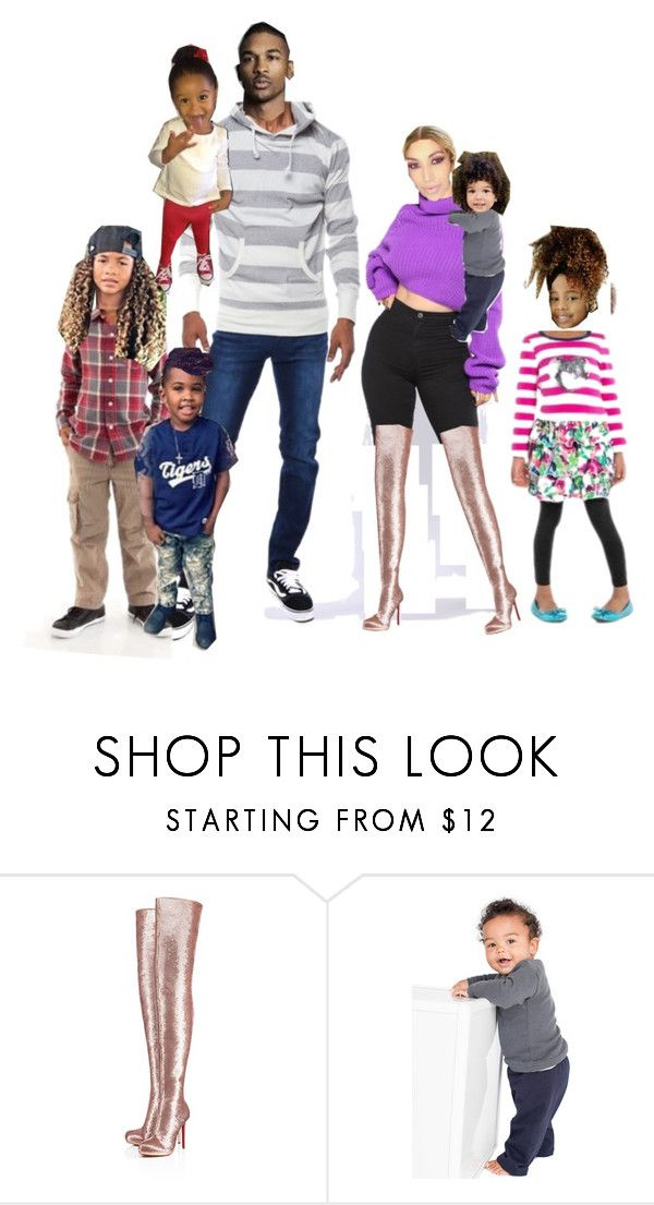 """Santos Family outing"" by a-andm ❤ liked on Polyvore featuring Christian Louboutin and American Apparel"