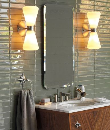 197 best save the blue bathroom mid century bathroom redo ideas images on pinterest bathroom for Mid century bathroom lighting