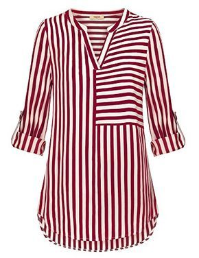 260c68c5d blusa estampada rayas en blanco   rojo