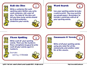 Spelling Task Cards for Any List! 40 Cards for $3.00