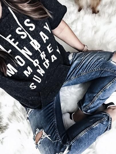 Houston fashion and lifestyle blogger Tiffany Jais wearing an Ily Couture hoodie, Less Monday, more Sunday | What's trending in fashion