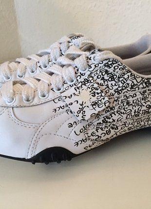 Kaufe meinen Artikel bei #Kleiderkreisel http://www.kleiderkreisel.de/damenschuhe/laufschuhe/149143868-puma-by-mihara-yasuhiro-my-9-turnschuhe-38-schwarz-weiss-leder-sneakers-white-black