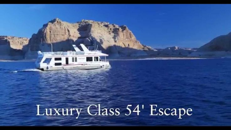 "Escape Luxury Houseboat Rental | Lake Powell Resorts & Marinas | Bullfrog Marina UT Seven day: $7-8000. 4 dbl bed staterooms & 2 bath. Oceans's Malibu Two kayak 12'lg 34""w. Rental $45/day. Jetski $375/day. Rent jetski's to explore deeper into canyons and see more of the lake in a less time. Rental rates excl fuel, liability waiver, taxes, surchg, or other fees may apply (see FAQ). Fishing: Striped Bass, Largemouth Bass, Smallmouth Bass, Channel Catfish."