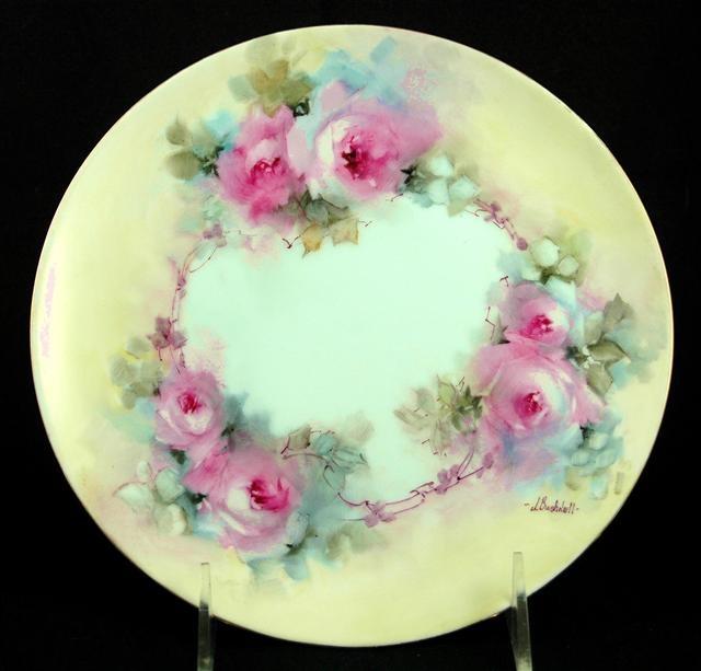 Lovely rose plate