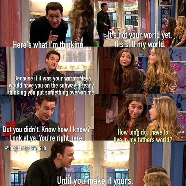 """S1 Ep1 """"Girl Meets Boy"""" - Riley and and Cory  