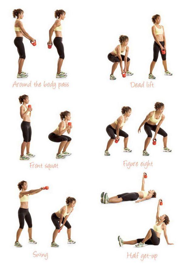 Упражнения с гирей для женщин