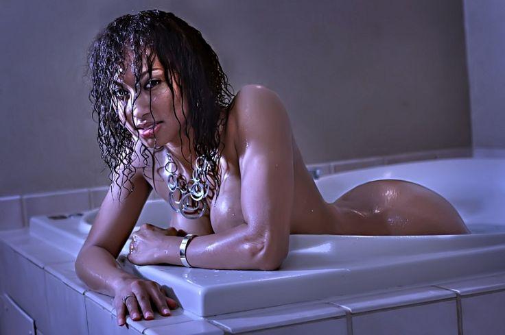 Dripping wet.