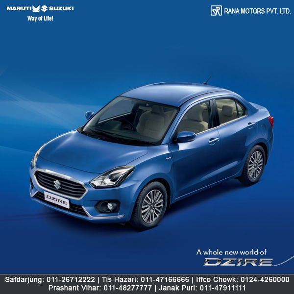 The Dzire is driven by performance. So, everytime you take the steering wheel, you can drive into a whole new world where elegance meets efficiency. http://www.ranamotors.co.in/maruti-suzuki-dzire-en-in.htm  Contact Numbers:- Safdarjung: 011-26712222 Prashant Vihar: 011-48277777 Iffco Chowk: 0124-4260000 Tis Hazari: 011-47166666 Janak Puri: 011-47911111  #MarutiSuzuki #Dzire #Car #RanaMotors #NewDelhi #Gurgaon