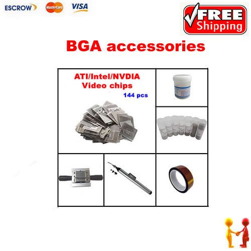 ==> [Free Shipping] Buy Best Freeshipping Direct Heat INTEL/ NVIDIA/ ATI GPU Stencils 144pcs  direct heat reballing station BGA balls solder flux Online with LOWEST Price | 1881651186