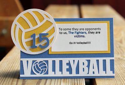 One person's scrapping compulsion: Volleyball locker decor & treats