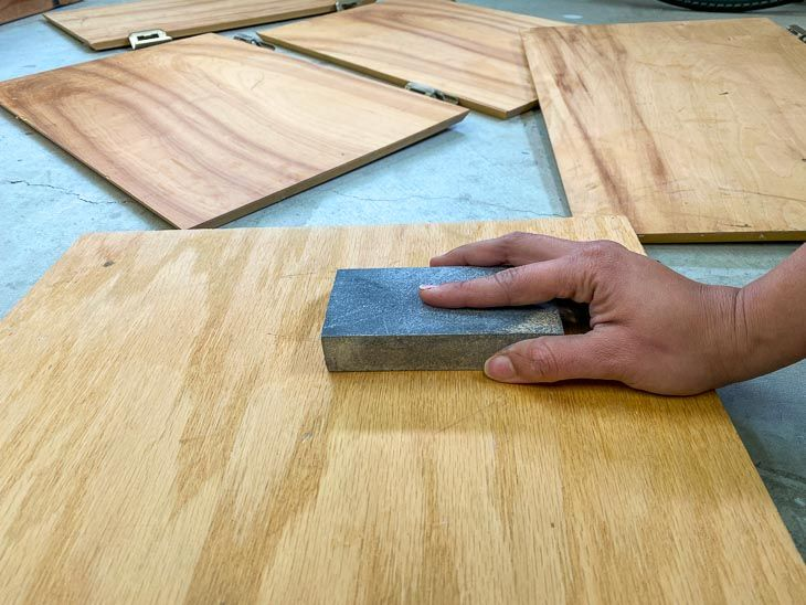 How To Paint Veneer Cabinets Gel Stain Furniture Woodworking Plans Diy Painted Bamboo