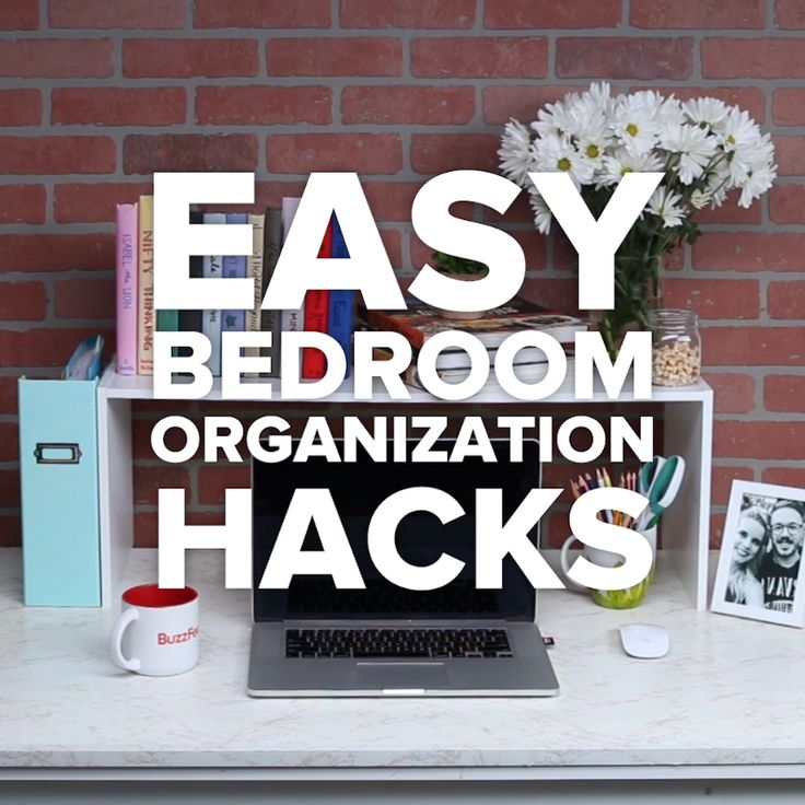 The Best Bedroom Organization Hacks #DIY #spacesaver #organize #desk #shoes #drawer
