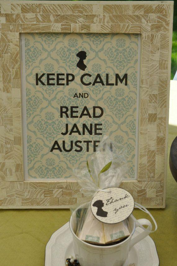 Jane Austen Printable Bridal Shower Set by PrintablePartiesInc, $30.00