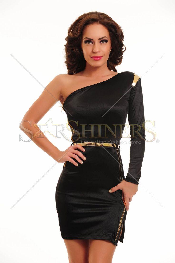 Rochie Ocassion, eleganta si senzuala, perfecta pentru diva din tine. Rochie Ocassion cu un croi modern, cu un umar gol si decupata pe picior reprezinta un must have pentru garderoba ta.