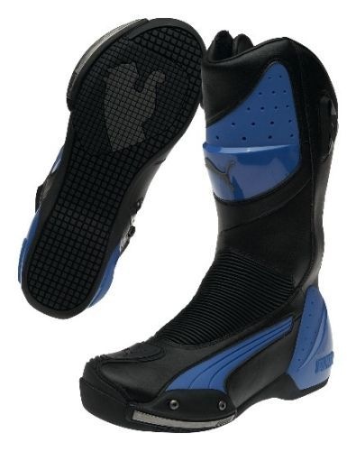 PUMA-Desmo-v2-sport-motorcycle-boots-black-blue-BRAND-NEW-LAST
