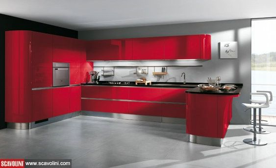 #red #color #scavolini #cucina