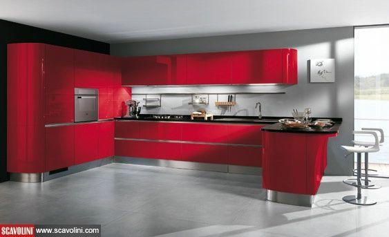 #red #color #scavolini #cucina