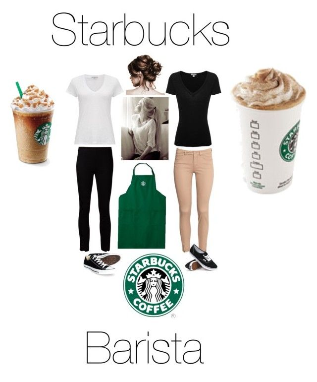 """""""Starbucks Barista In Training"""" by aklein97 on Polyvore featuring James Perse, The Row, H&M, Converse and Vans"""