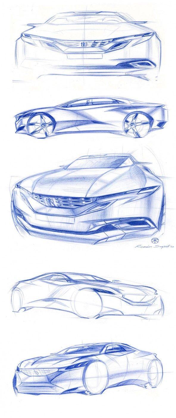 Peugeot Exalt Design Sketches by Chief Designer Romain Saquet