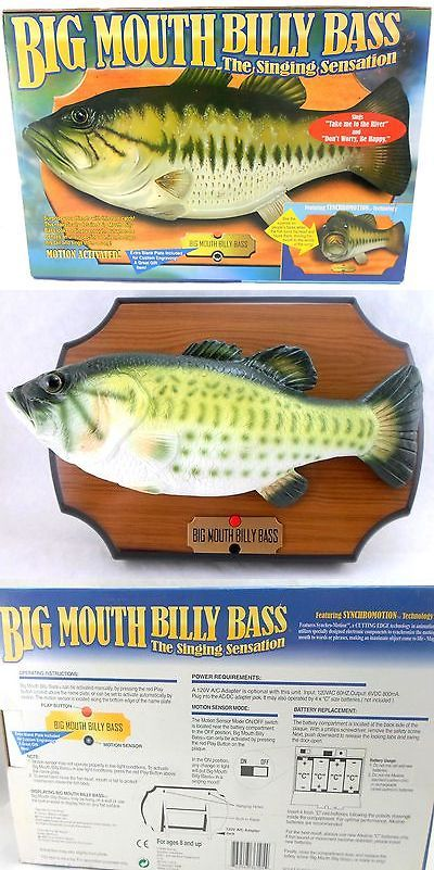 Novelties and Gifts 62143: Original 1999 Big Mouth Billy Bass Singing Fish Motion Activated Wall Plaque -> BUY IT NOW ONLY: $49.95 on eBay!