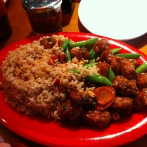 Kung Pao Chicken-This was great! I added snap peas/carrots and used fresh ginger with extra garlic. Nice and spicy!