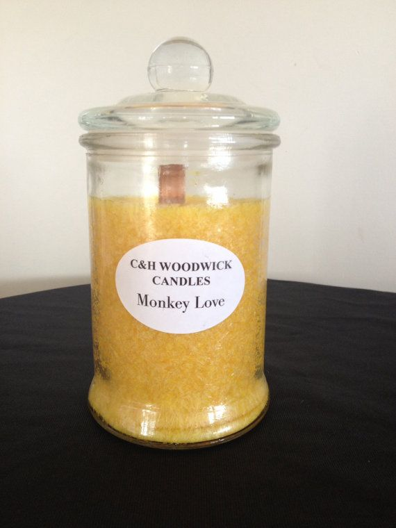 Monkey Love Woodwick Palm wax candle by ChristalClean on Etsy