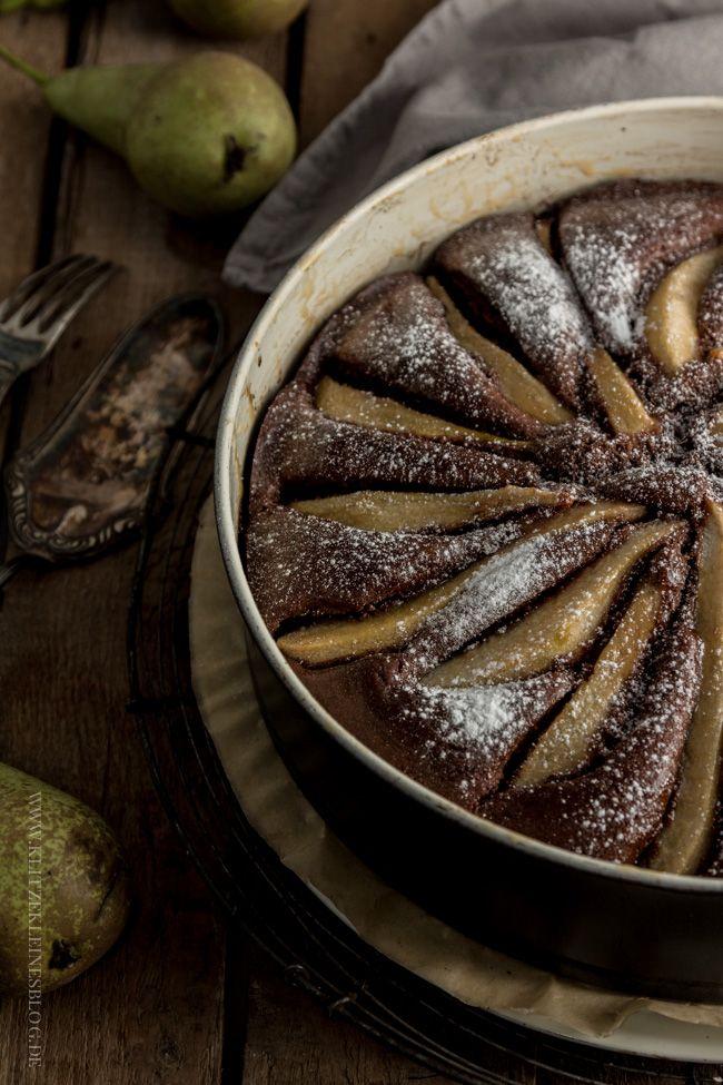 Potz Blitz! Ich möchte nun täglich: Birnen-Vanille-Schokoladenkuchen