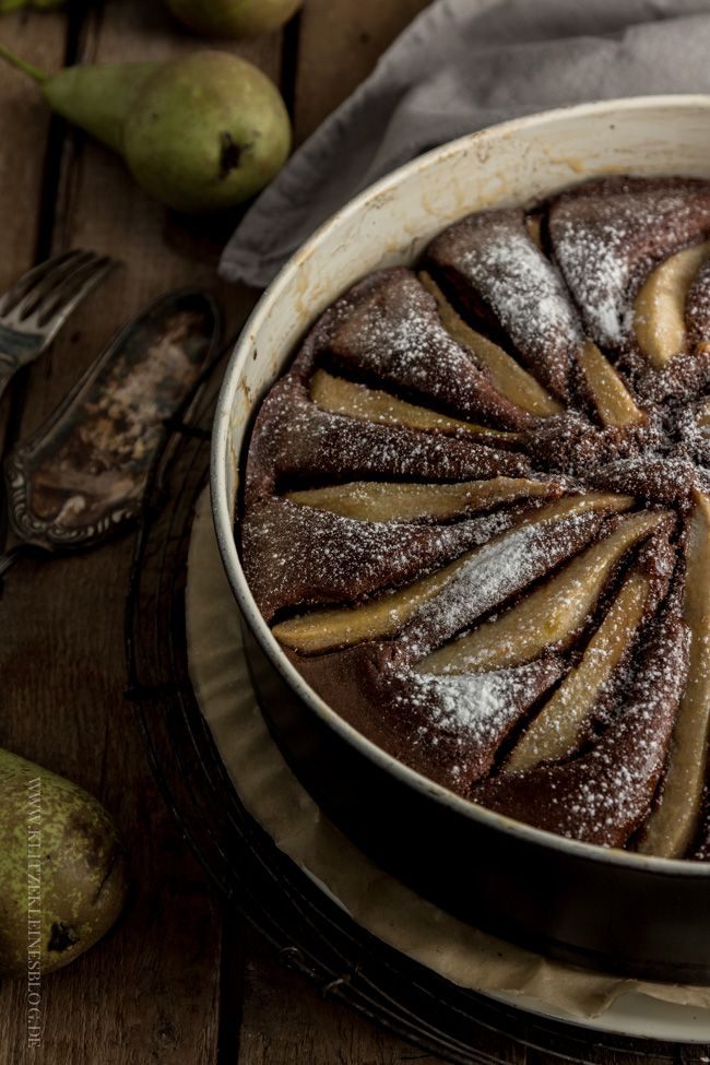 Potz Blitz! Ich möchte nun täglich: Birnen-Vanille-Schokoladenkuchen ♥ | KLITZEKLEIN | Bloglovin