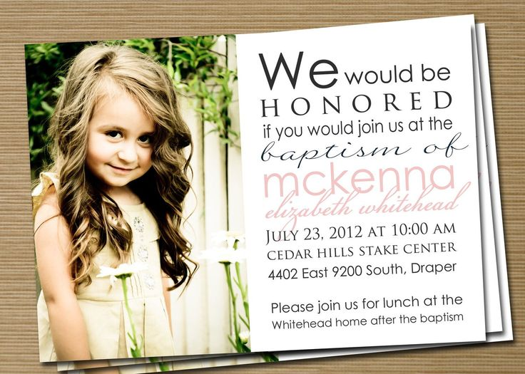 lds baptism invitations girl