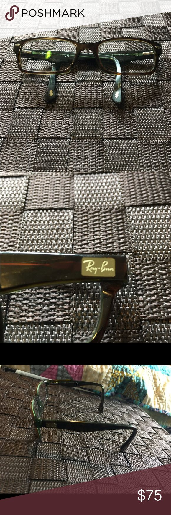 Ray Bans Eyeglasses with Prescription +125 Prescription, Tortoise design, rectangle framed Ray-Ban Accessories Glasses