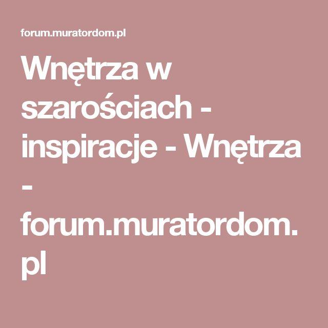 Wnętrza w szarościach - inspiracje - Wnętrza - forum.muratordom.pl