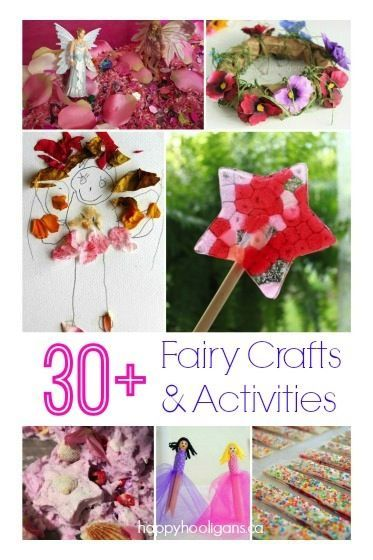 30+ Fairy Crafts and Activities for Kids to make and do! Fairy crafts, art projects, fairy houses, recipes and fairy party ideas for kids who love fairies.