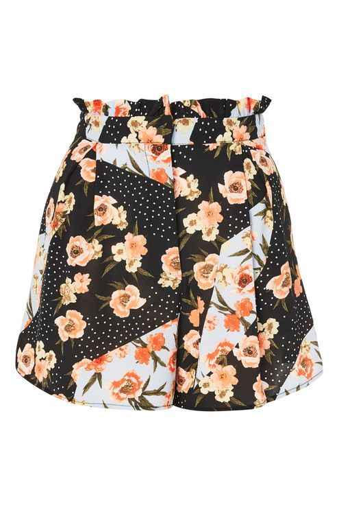 Pansy And Spot Print Shorts