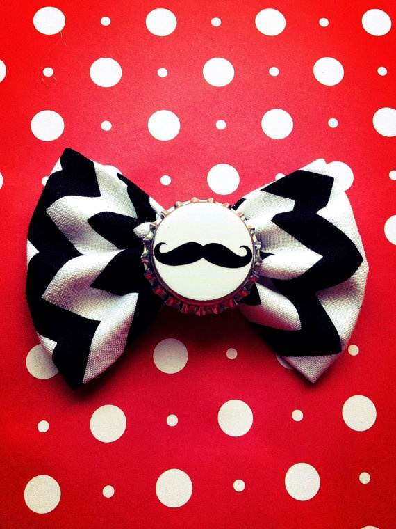 Mustache Black and White Chevron print by Bowliciousdivas on Etsy, $6.00