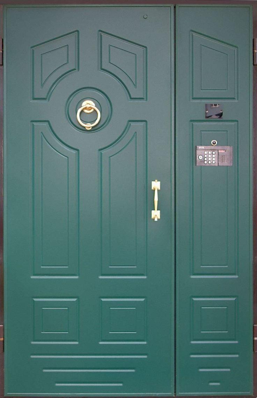 Дверь входная зеленая, зеленые входные двери, заказать зеленую входную дверь