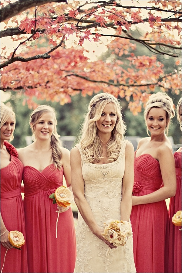 I like how the bridesmaid dresses are different